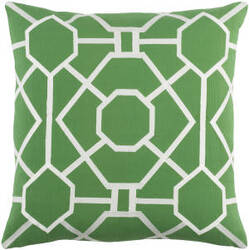 Surya Kingdom Pillow Porcelain Green - White