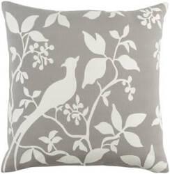 Surya Kingdom Pillow Birch Gray - White