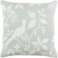 Surya Kingdom Pillow Birch Dusty Aqua - White