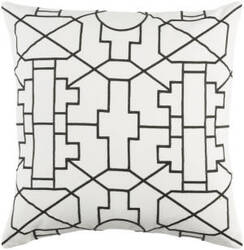 Surya Kingdom Pillow Lei White - Black
