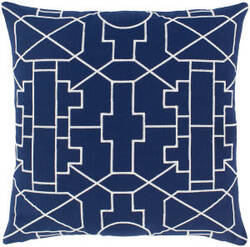 Surya Kingdom Pillow Lei Navy - White