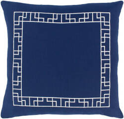 Surya Kingdom Pillow Rachel Navy - White
