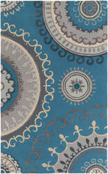 Surya Lounge Alanna Teal - Grey Area Rug