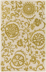 Surya Rhodes Maggie Gold - Off-White Area Rug