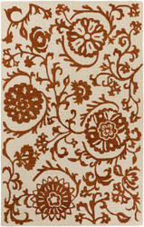 Surya Rhodes Maggie Rust - Off-White Area Rug