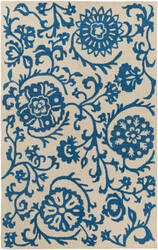Surya Rhodes Maggie Royal Blue - Off-White Area Rug