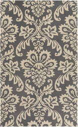 Surya Rhodes Luna Dark Grey - Off-White Area Rug