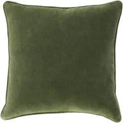Surya Safflower Pillow Ally Saff7194 Olive Green