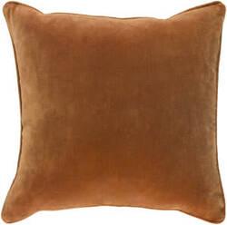Surya Safflower Pillow Ally Saff7196 Burnt Orange