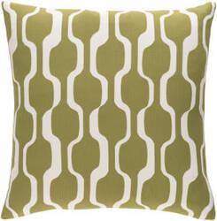 Surya Trudy Pillow Vivienne Olive - White