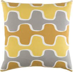 Surya Trudy Pillow Minnie Yellow/ Gray