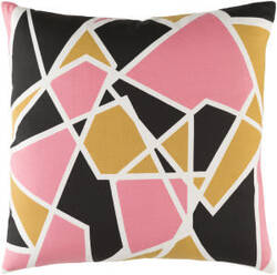 Surya Trudy Pillow Leona Pink - Mustard Yellow - Black