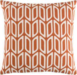 Surya Trudy Pillow Nellie Orange - White