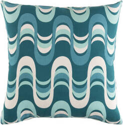 Surya Trudy Pillow Wave Teal Multi
