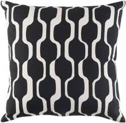 Surya Trudy Pillow Vivienne Trud7190 Onyx Black