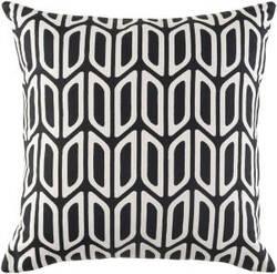 Surya Trudy Pillow Nellie Trud7191 Onyx Black
