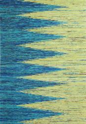 Bashian Spectrum C179-H1110 Turquoise - Gold Area Rug