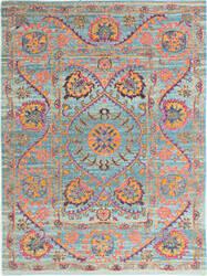 Bashian Heritage H114-Z036 Teal Area Rug