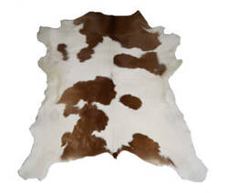 BS Trading Calf Skin 147880 Brown And White Area Rug