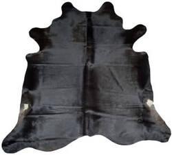BS Trading Cowhide 147871 Black Area Rug