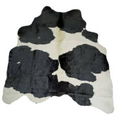 BS Trading Cowhide 147870 Black And White Area Rug
