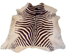 BS Trading Zebra Cowhide 147878 Brown And White Area Rug