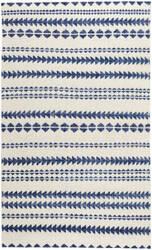 Capel Genevieve Gorder Scandinavian Stripe 1715 Natural Blue Area Rug