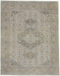 Capel Cannae 1941 Light Tan - Pale Blue Area Rug