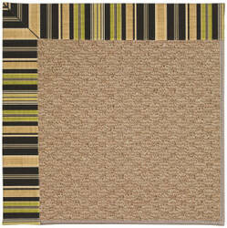 Capel Zoe Raffia 1992 Charcoal Stripe Area Rug