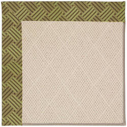 Capel Zoe White Wicker 1993 Mossy Green Area Rug
