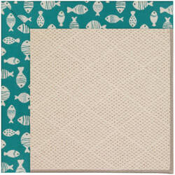 Capel Zoe White Wicker 1993 Sea Green Area Rug