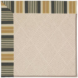 Capel Zoe White Wicker 1993 Black Stripe Area Rug