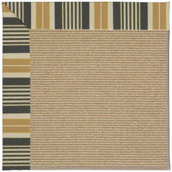 Capel Zoe Sisal 1995 Black Stripe Area Rug