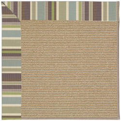 Capel Zoe Sisal 1995 Blue Stripe Area Rug