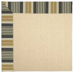 Capel Zoe Beach Sisal 2009 Black Stripe Area Rug