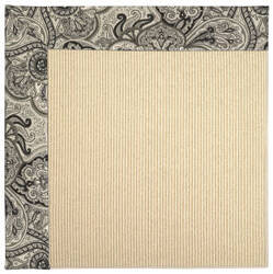 Capel Zoe Beach Sisal 2009 Black Orchid Area Rug