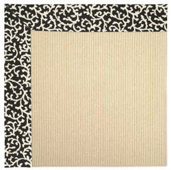 Capel Zoe Beach Sisal 2009 Black Cascade Area Rug