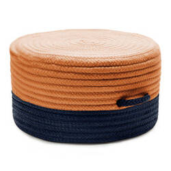 Colonial Mills Color Block Pouf Fr31 Navy/Orange