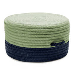 Colonial Mills Color Block Pouf Fr61 Navy/Green