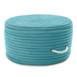 Colonial Mills Simply Home Solid Pouf Ho49 Turquoise