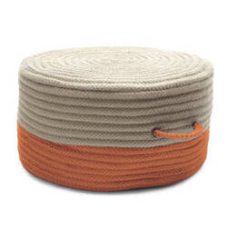 Colonial Mills Two-Tone Pouf On41 Orange