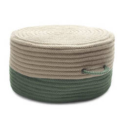 Colonial Mills Two-Tone Pouf On61 Moss Green