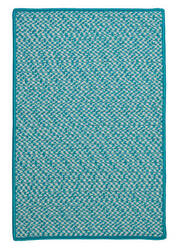 Colonial Mills Outdoor Houndstooth Tweed Ot57 Turquoise Area Rug