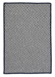 Colonial Mills Outdoor Houndstooth Tweed Ot59 Navy Area Rug