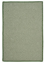 Colonial Mills Outdoor Houndstooth Tweed Ot68 Leaf Green Area Rug