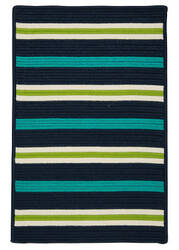Colonial Mills Painter Stripe Ps51 Navy Waves Area Rug