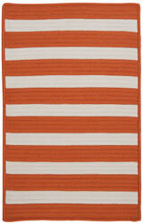 Colonial Mills Stripe It Tr19 Tangerine Area Rug