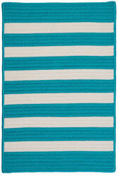 Colonial Mills Stripe It Tr49 Turquoise Area Rug