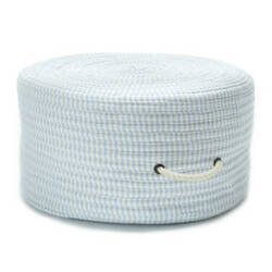 Colonial Mills Ticking Fabric Stripe Pouf Tx50 Blue