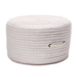 Colonial Mills Ticking Fabric Stripe Pouf Tx70 Pink
